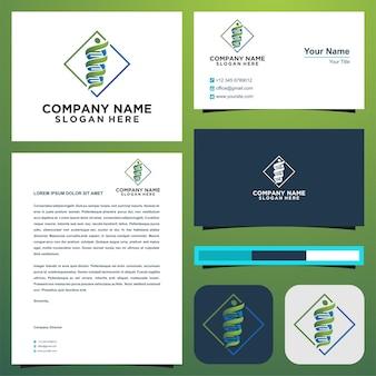 Medisch logo en visitekaartje premium