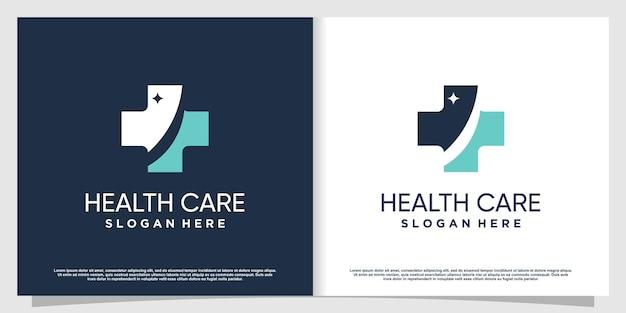 Medisch logo met creatief element premium vector deel 2