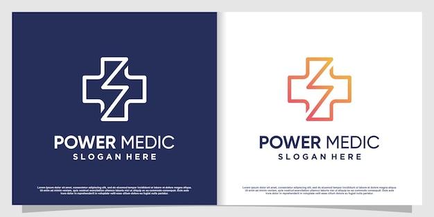 Medisch logo met creatief element premium vector deel 4