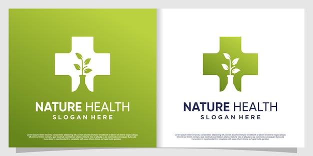 Medisch logo met creatief element premium vector deel 5