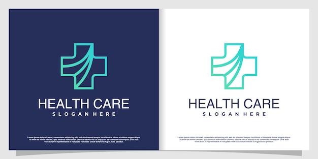 Medisch logo met creatief element premium vector deel 6