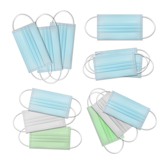 Medisch masker. beschermend gezichtsmasker voor ademveiligheid. illustratie