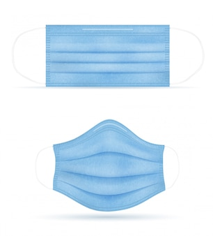 Medisch masker voor bescherming tegen ziekten en infecties overgedragen door druppeltjes in de lucht