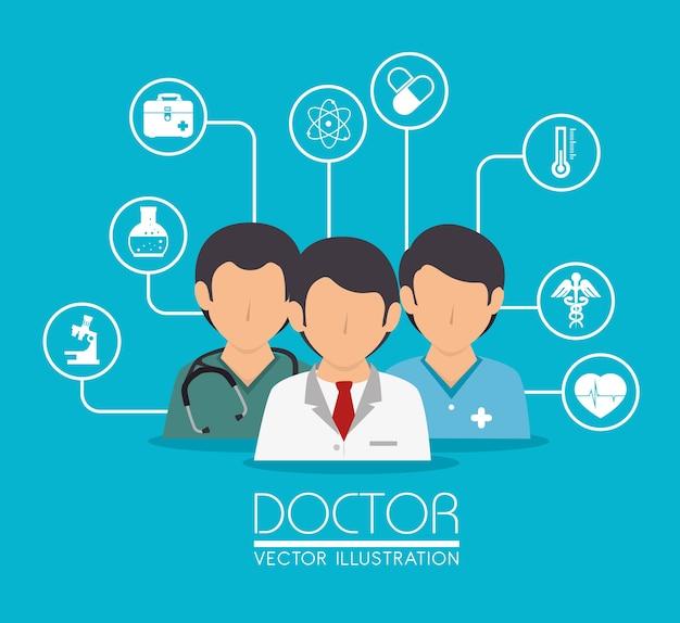 Medisch ontwerp, vectorillustratie.