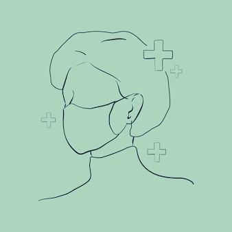 Medisch personeel dat een gezichtsmasker draagt