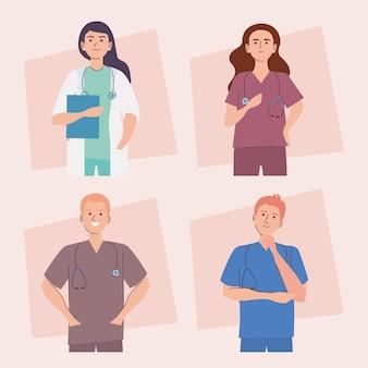 Medisch personeel tekens