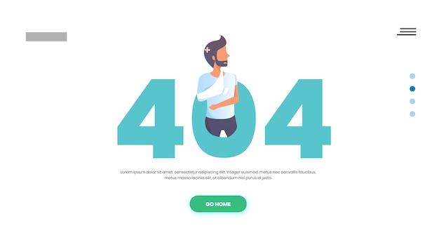 Medische 404-webpagina