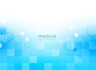 Medische achtergrond in heldere blauwe kleur