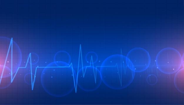 Medische achtergrond met cardiograaf hartslaglijnen Gratis Vector
