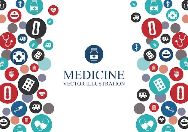 Medische achtergrond met elementen grafisch ontwerp