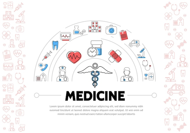 Medische achtergrond met pictogrammen