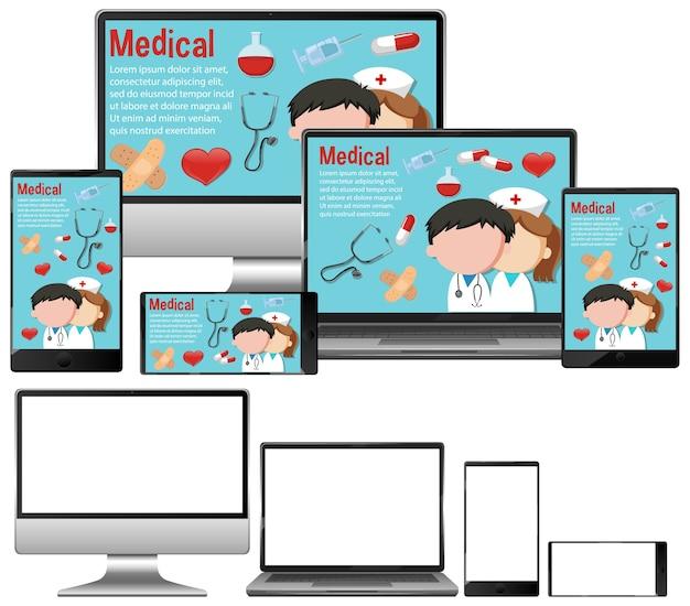 Medische achtergrond op elektronische apparaten