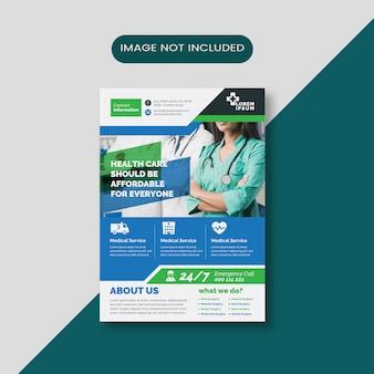 Medische advertentie flyer