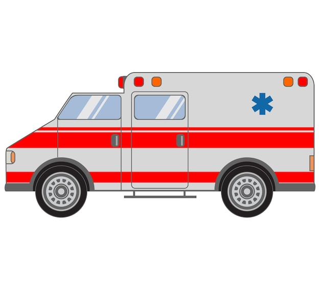 Medische ambulance van auto