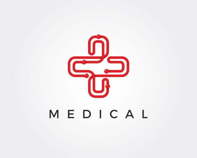 Medische apotheek logo ontwerpsjabloon illustrator