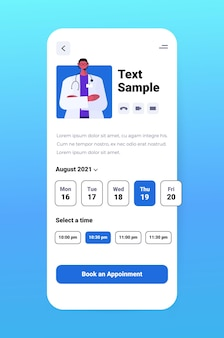 Medische app op smartphone scherm innovatieve diagnose online consultatie gezondheidszorg concept verticale vectorillustratie