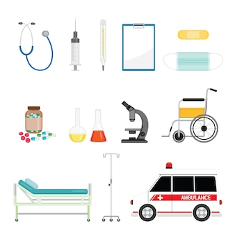 Medische apparatuur, tools-objecten instellen