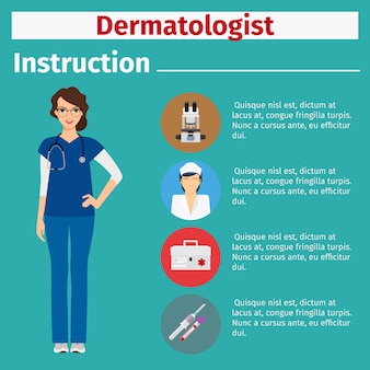 Medische apparatuurinstructie voor dermatoloog