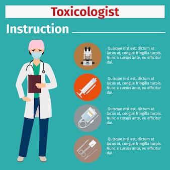 Medische apparatuurinstructie voor toxicoloog