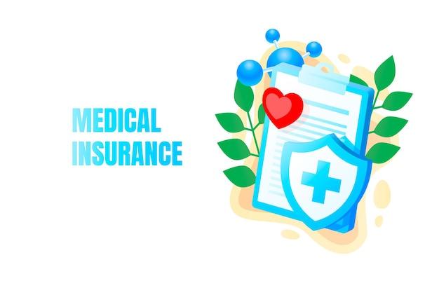 Medische banner, ziektekostenverzekering, biologie anatomie orgel, service help