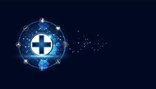 Medische behandeling van blauwe digitale gezondheid plus
