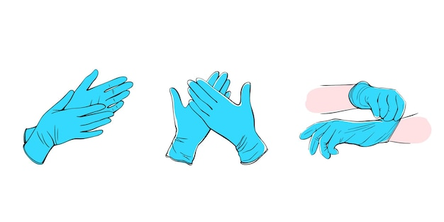 Medische beschermende handschoenen geïsoleerd op wit