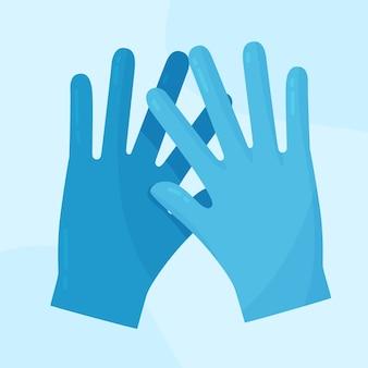 Medische blauwe beschermende handschoenen