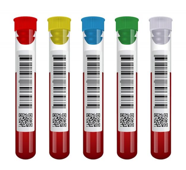 Medische bloed reageerbuis set geïsoleerd