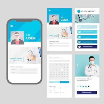 Medische boekingsapp met foto