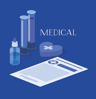 Medische buizen testen medicijnen met de bestelling