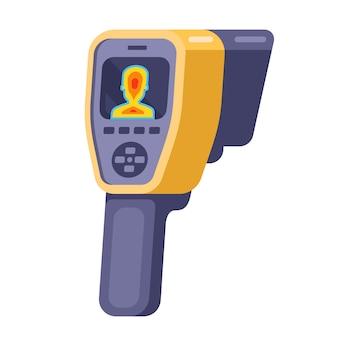 Medische camera voor de detectie van patiënten met coronavirus. illustratie.
