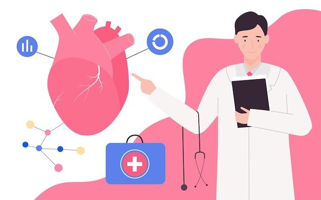 Medische cardiologie arts onderzoek bloedsomloop cardiovasculaire systeem checkup system