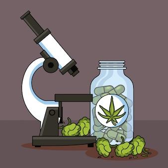 Medische cartoons voor cannabis