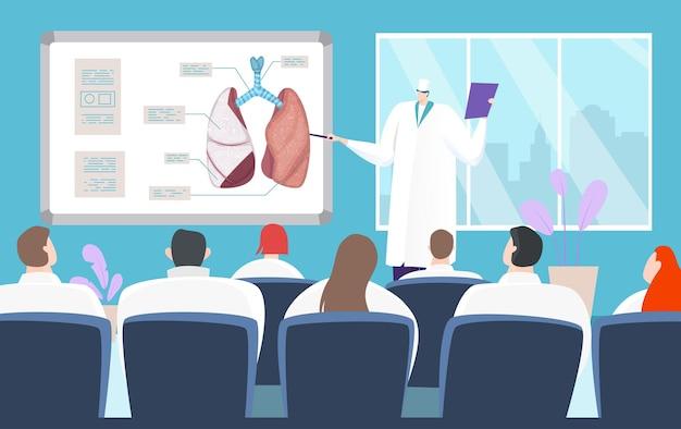 Medische conferentie over longziekten
