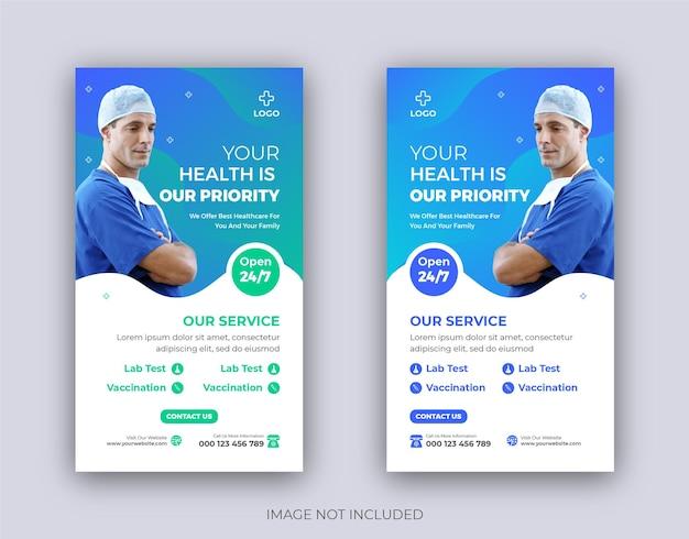 Medische consultatie instagram story template design