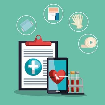 Medische dienst vastgestelde pictogrammen