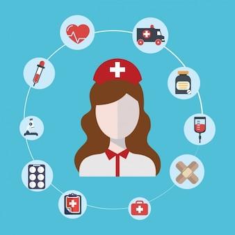 Medische en gezondheidszorg iconen