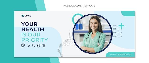 Medische facebook-omslag in vlakke stijl