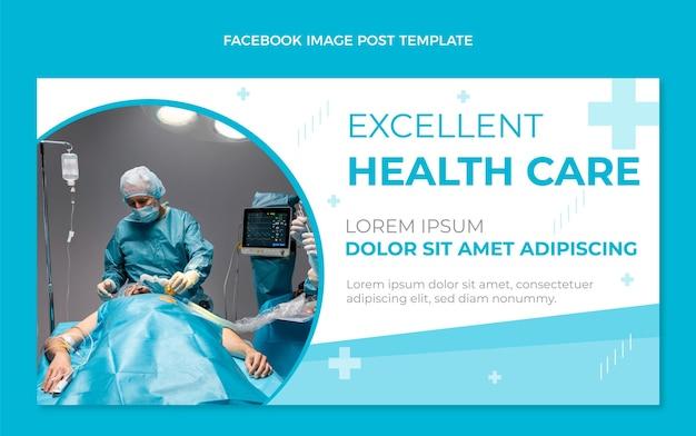 Medische facebook-post in vlakke stijl