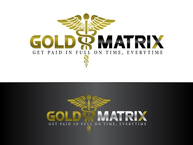 Medische facturering service logo ontwerp