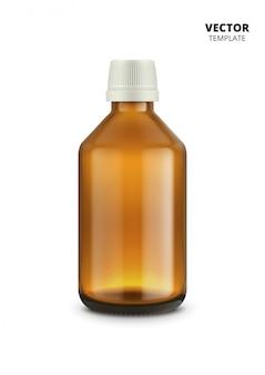 Medische flessen die op wit worden geïsoleerd