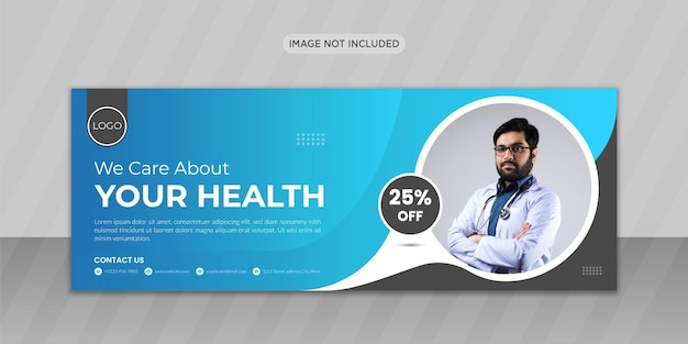 Medische gezondheidszorg facebook-omslagfotoontwerp of webbannerontwerp
