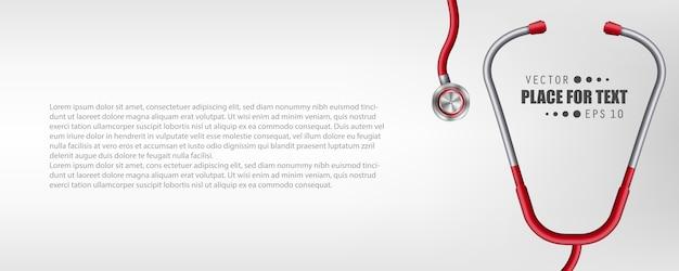 Medische gezondheidszorg geneeskunde stethoscoop.