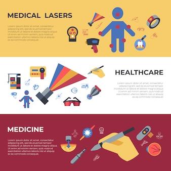 Medische gezondheidszorg lasers pictogrammen