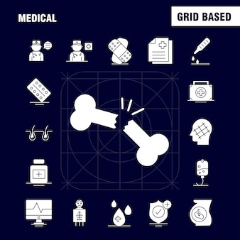 Medische glyph pictogram