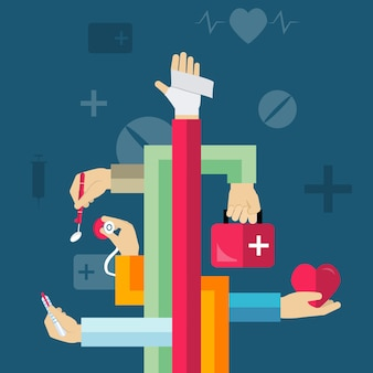 Medische handen concept