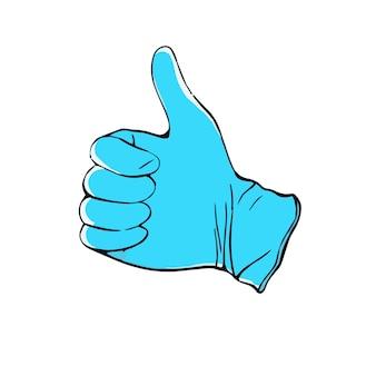 Medische handschoenen hand getekende illustratie