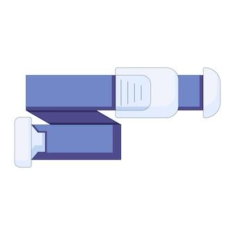 Medische hemostatische tourniquet voor bloedonderzoek icoon in een vlakke stijl