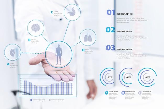 Medische infographic met afbeelding