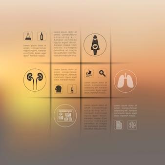 Medische infographic met ongericht achtergrond